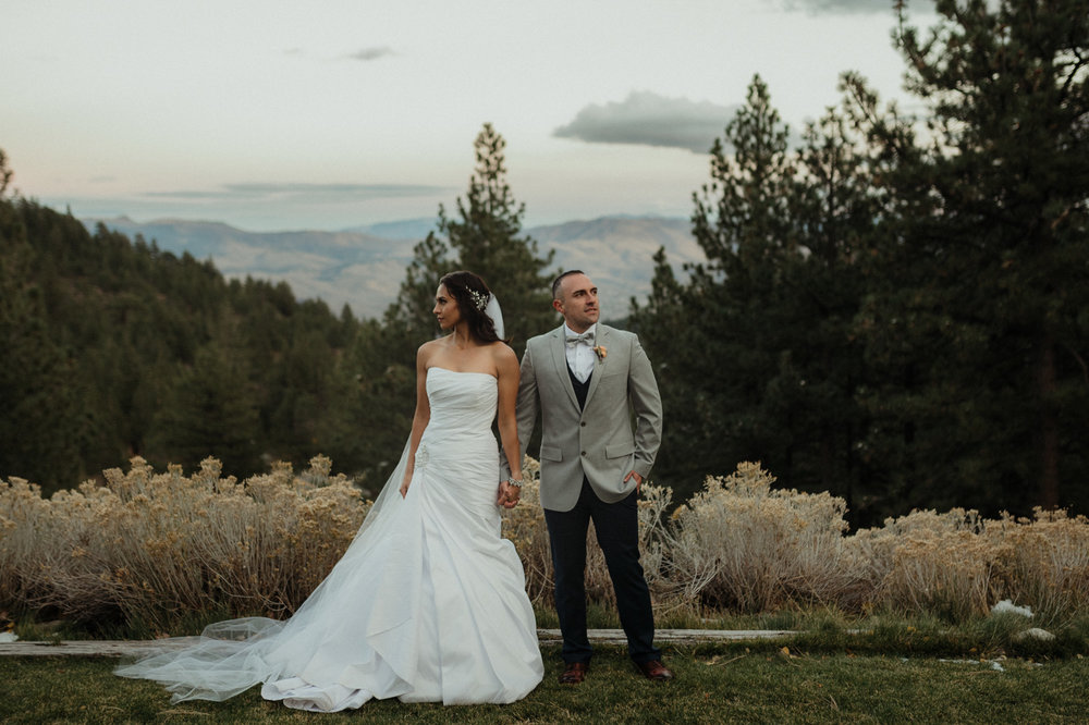 Tannenbaum Reno Wedding couples photo