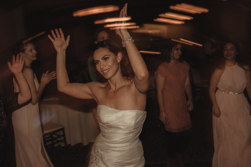 Tannenbaum Wedding Venue bride dancing during her reception photo
