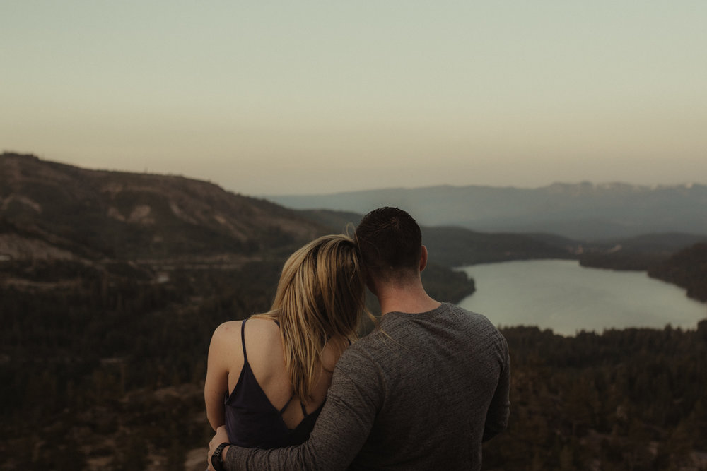 Lake tahoe wedding and couples photographer sunset photo