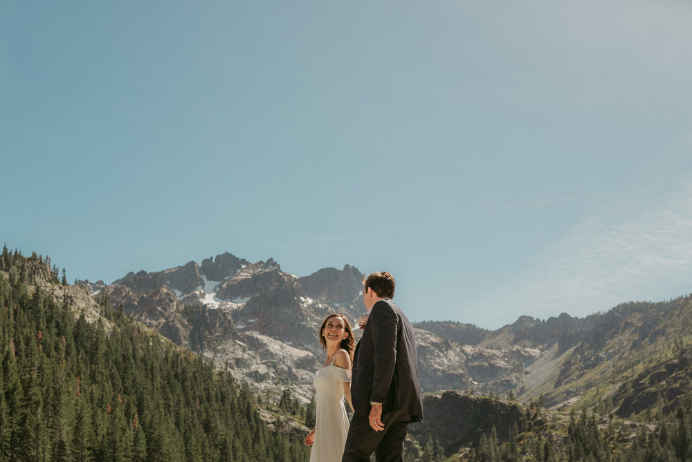 Lake Tahoe Photographer, couple elopement at Sardine Lakes photo