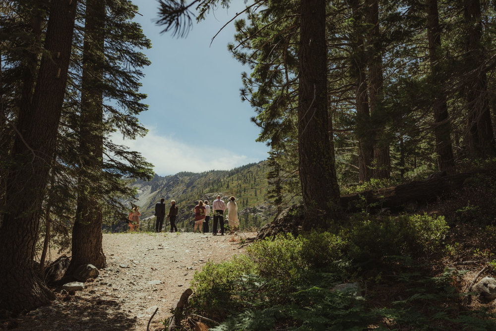 Elopement in Sardine Lake, ceremony photo