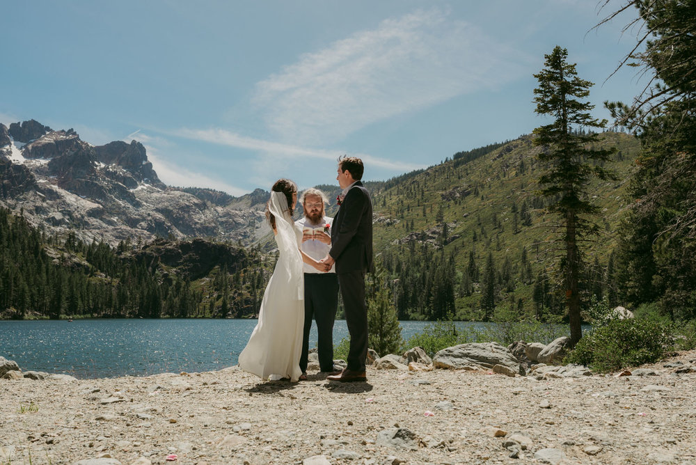 Lake Tahoe elopement inspiration photo