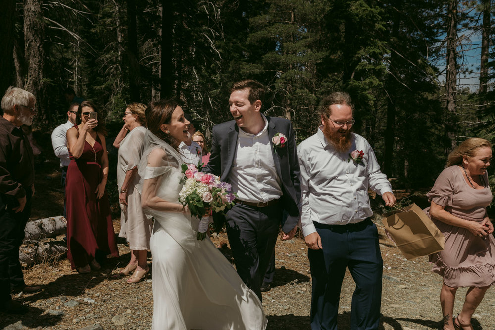 Lower Sardine Lake wedding photo, near Sardine Lake Resort