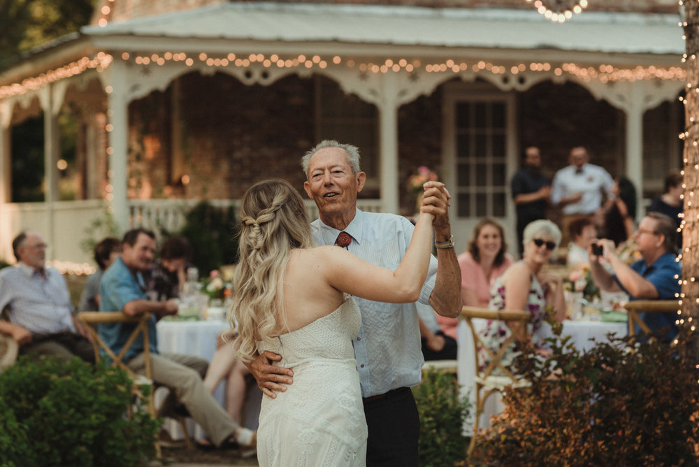 Twenty Mile House wedding grandpa first dance photo