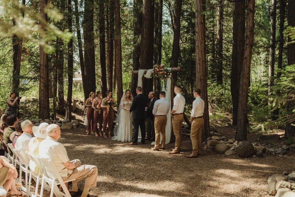 Twenty Mile House wedding ceremony photo