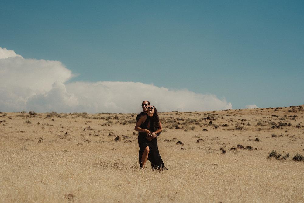 couple in the desert photo