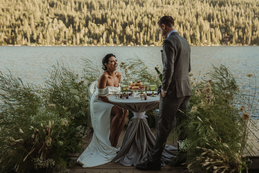 Lake Tahoe pop-up wedding/elopement inspiration photo