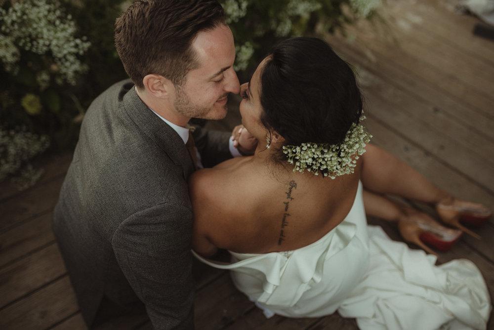Lake Tahoe pop-up wedding/elopement brides tattoo photo