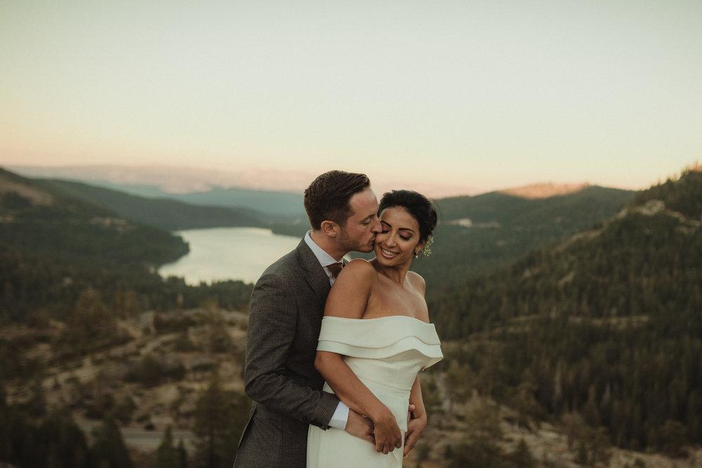 Lake Tahoe pop-up wedding/elopement sunset couples photos