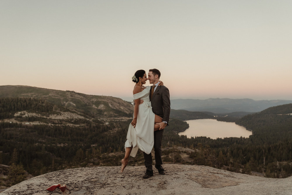 Lake Tahoe pop-up wedding inspiration photo