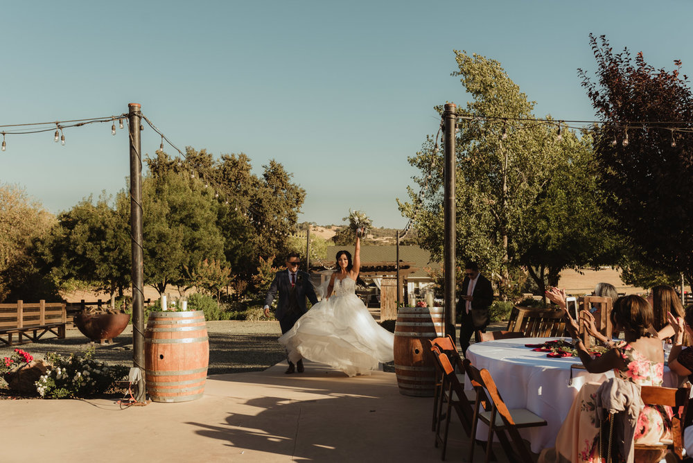Ranch Victoria vineyard wedding reception photo