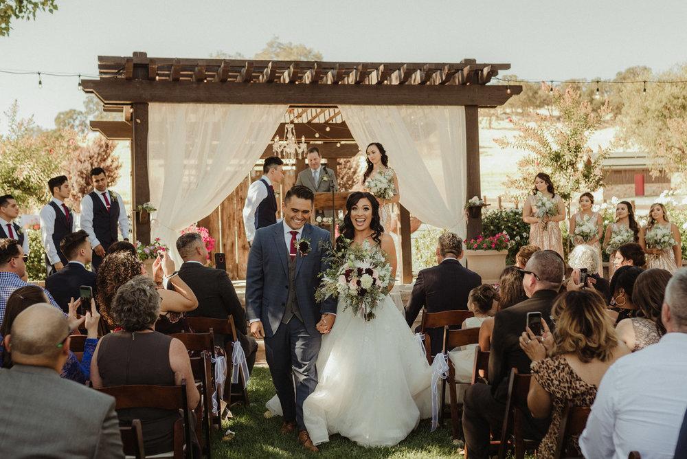 Ranch Victoria Vineyard wedding photo