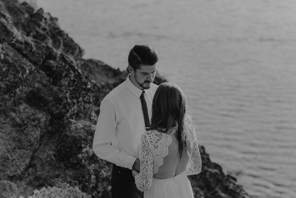 Lake Tahoe vow renewal groom photo