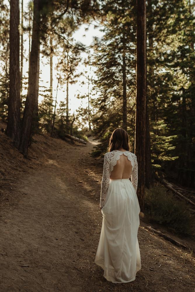 Lake Tahoe vow renewal dress photo