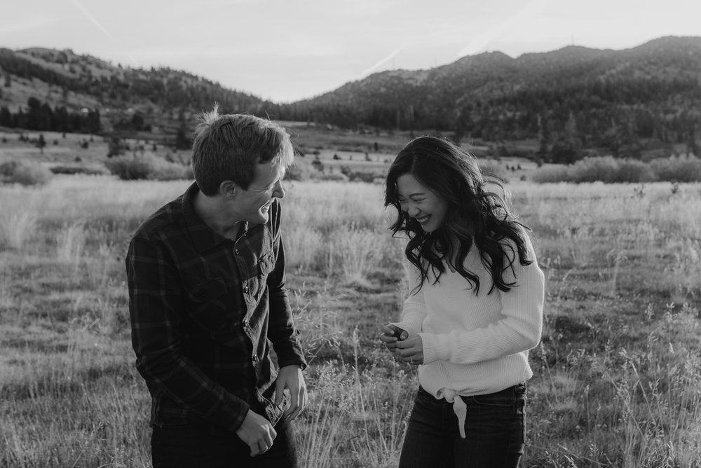 Tahoe meadows interpretive loop romantic sunrise session inspiration photo