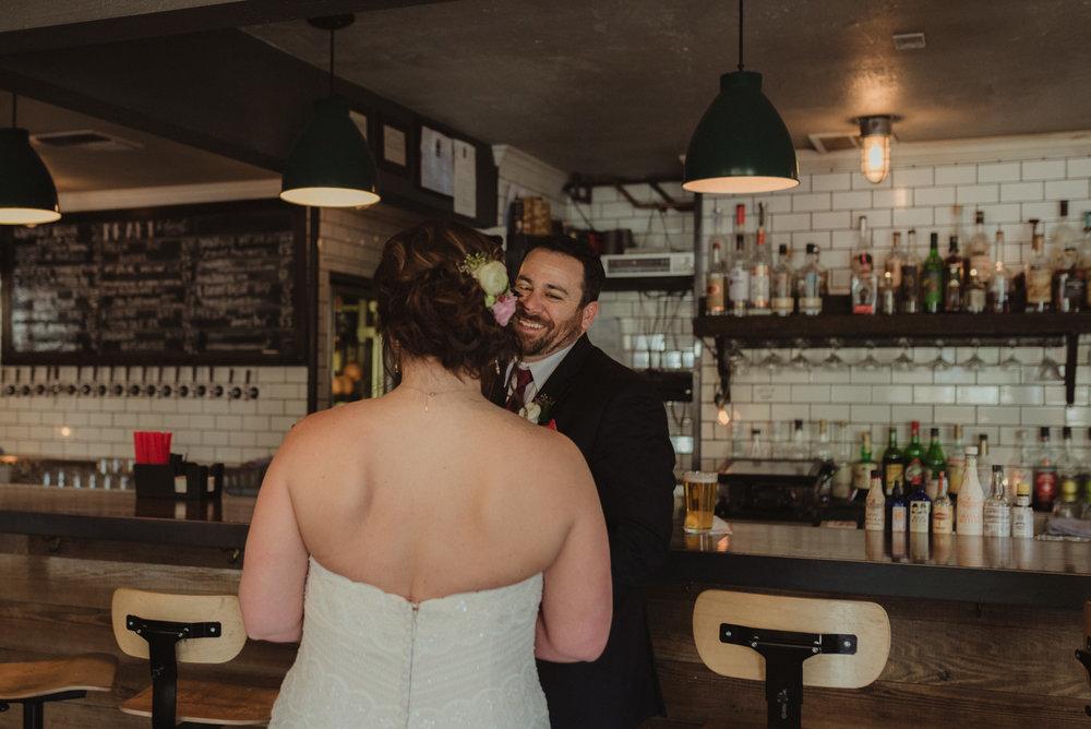 wedding at a bar photo
