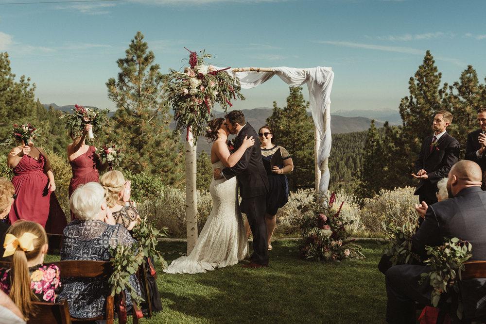 tannenbaum wedding venue first kiss photo