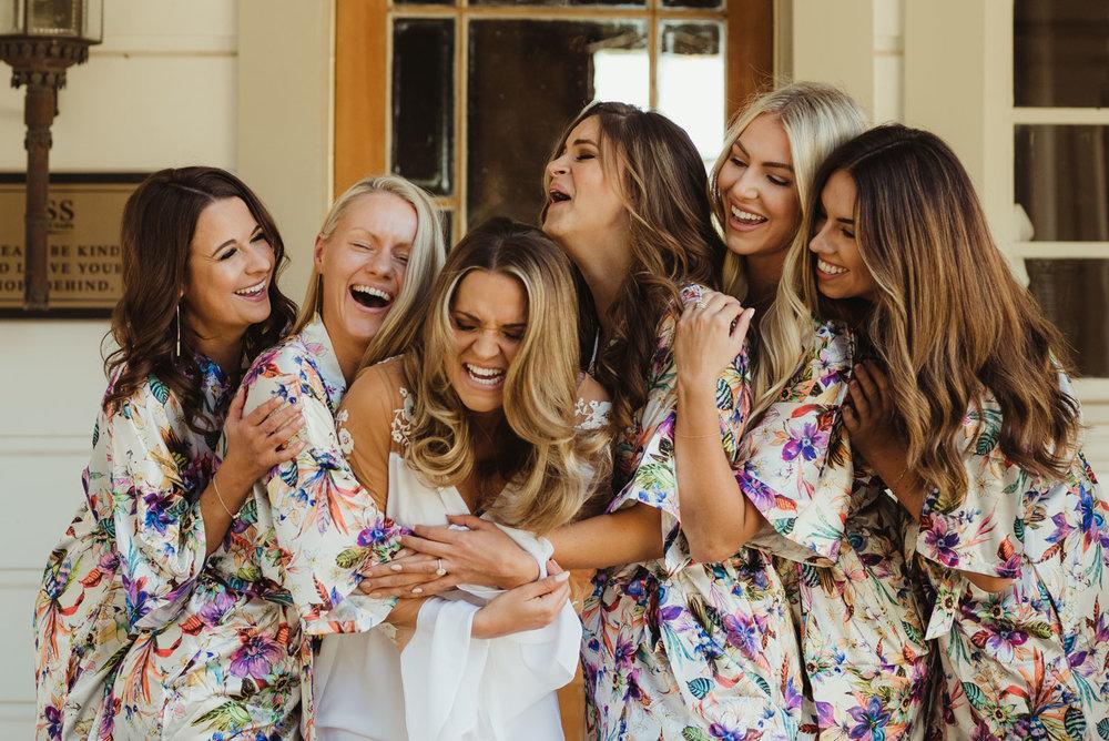 Triple S Ranch Wedding Venue, candid photo with bridesmaids