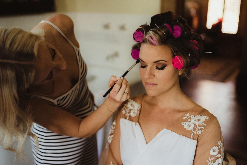 Triple S Ranch Wedding Venue photo of bride getting ready