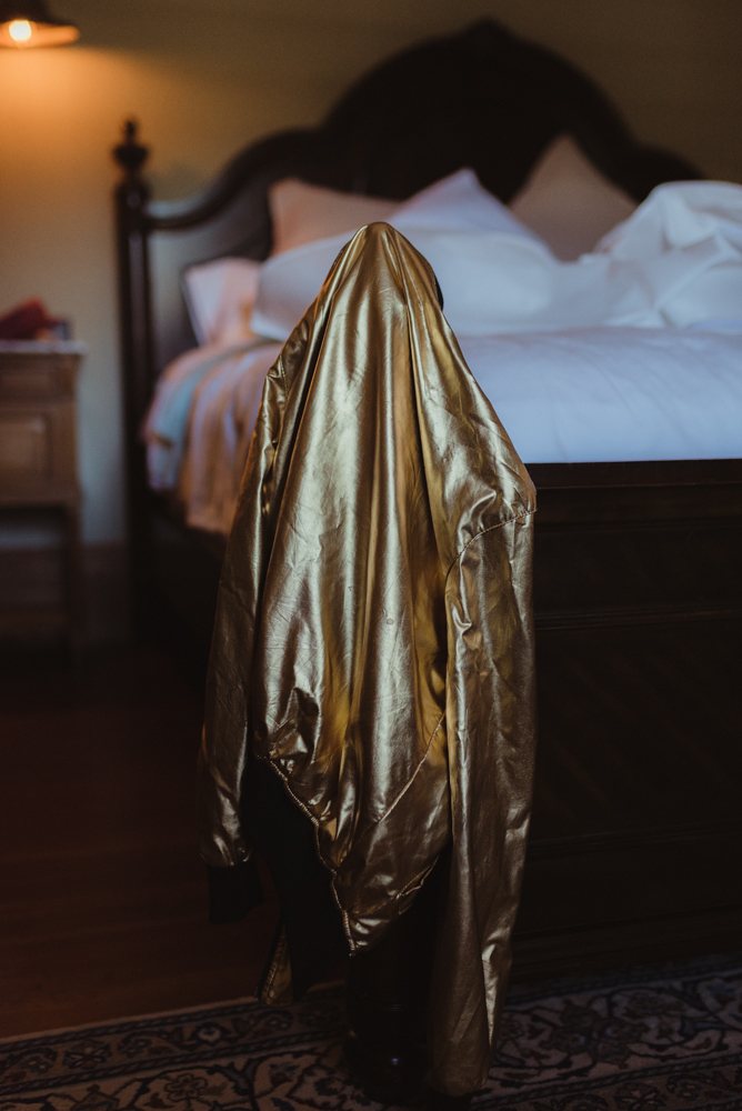Triple S Ranch Wedding Venue gold wedding jacket photo