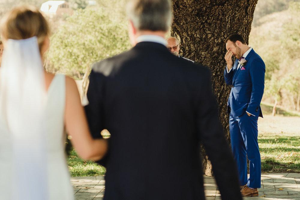 Triple S Ranch Wedding Venue, groom crying photo