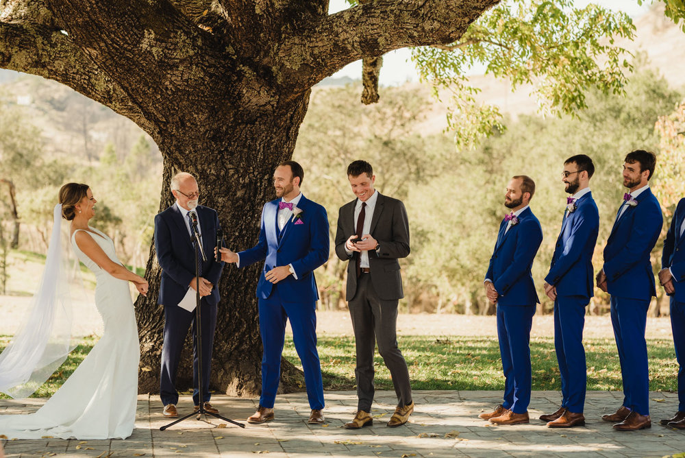 Triple S Ranch Wedding Venue, friend reading during the ceremony photo