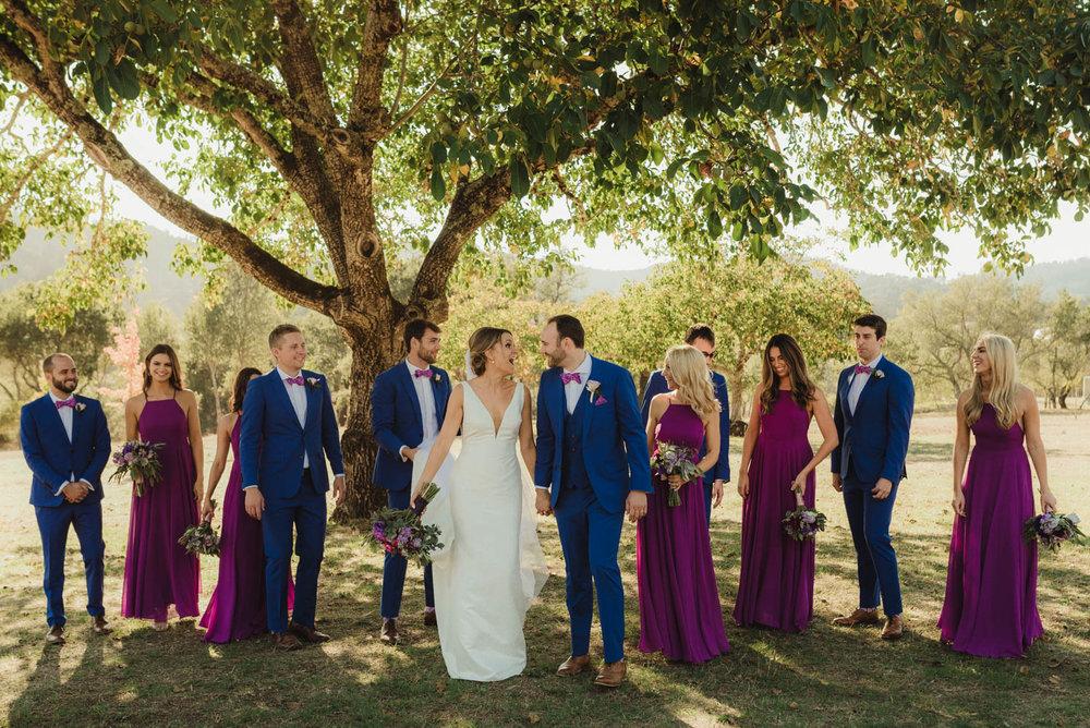 Triple S Ranch Wedding Venue, full bridal party photo