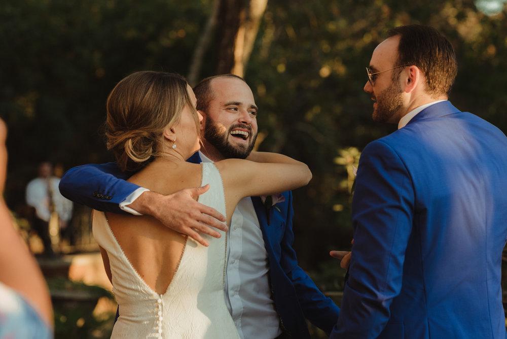 Triple S Ranch Wedding Venue, best man hug photo