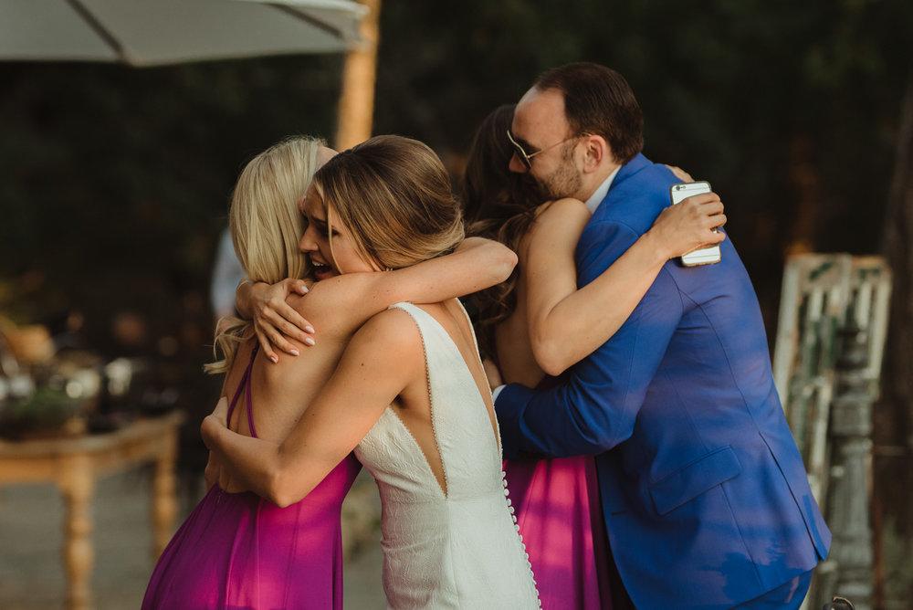 Triple S Ranch Wedding Venue, maid of honor hug photo