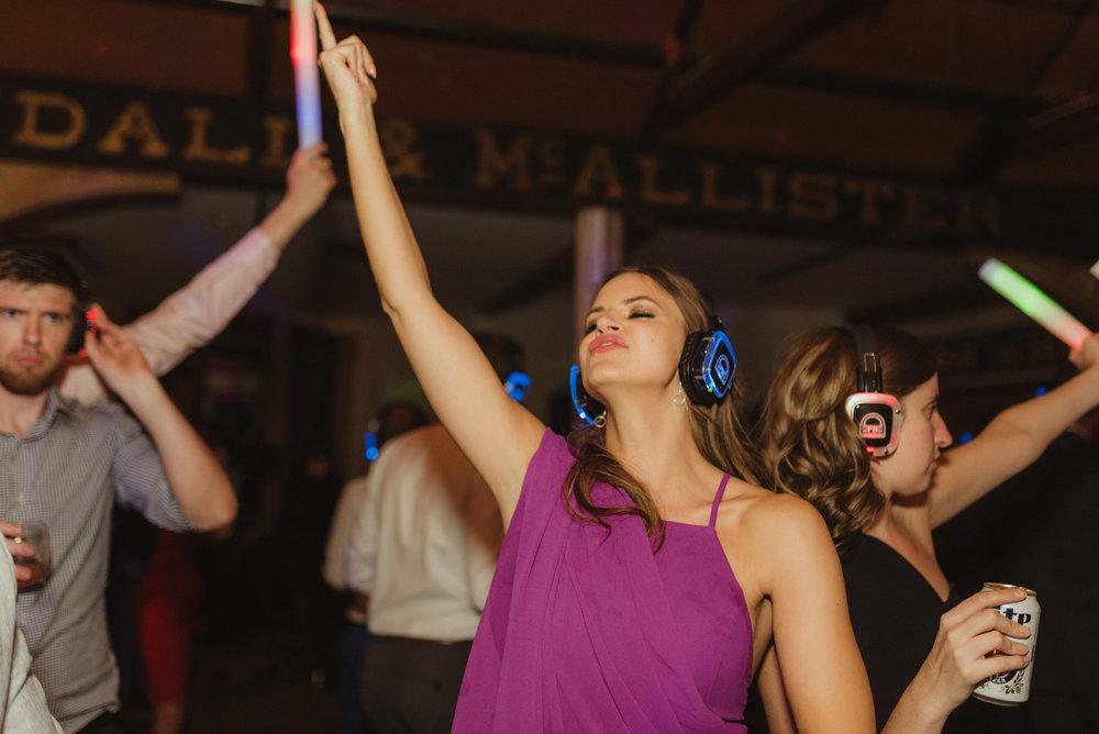 Triple S Ranch Wedding Venue, silent disco photo