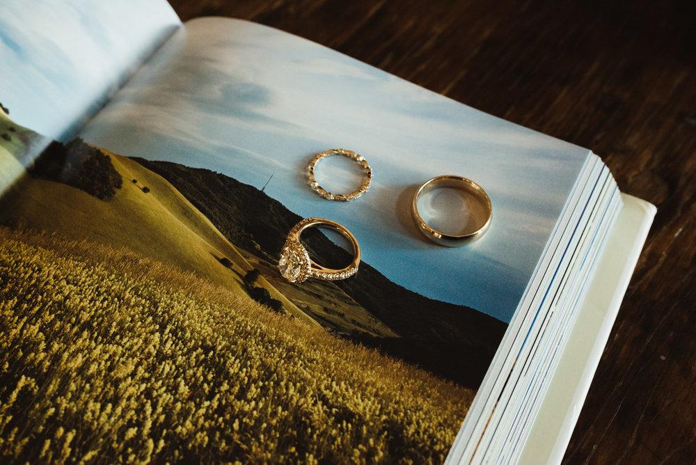 Calistoga Boutique Resort wedding, rings photo