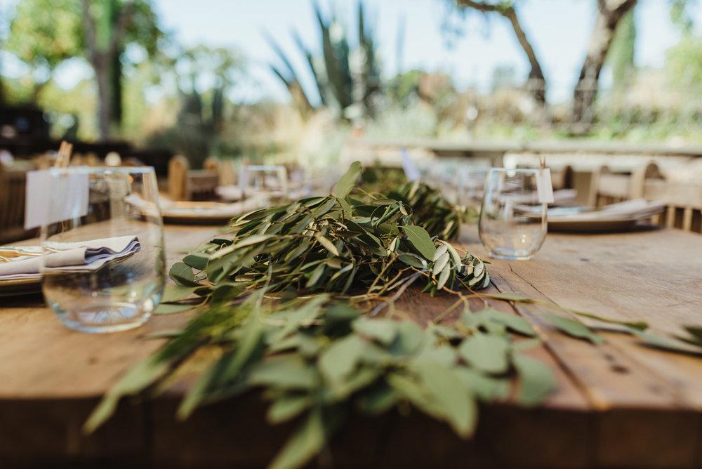 Calistoga Boutique Resort wedding, dinner details photo