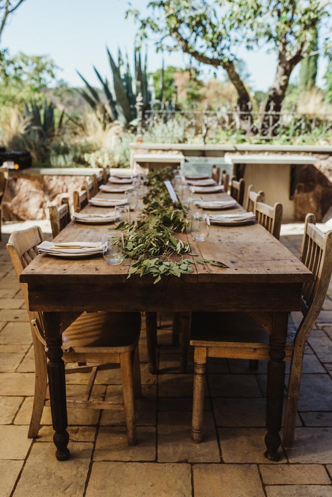 Calistoga Boutique Resort wedding, table setting photo