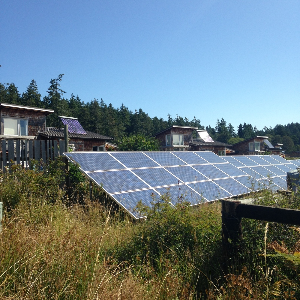 Solar Panels on Lopez Island