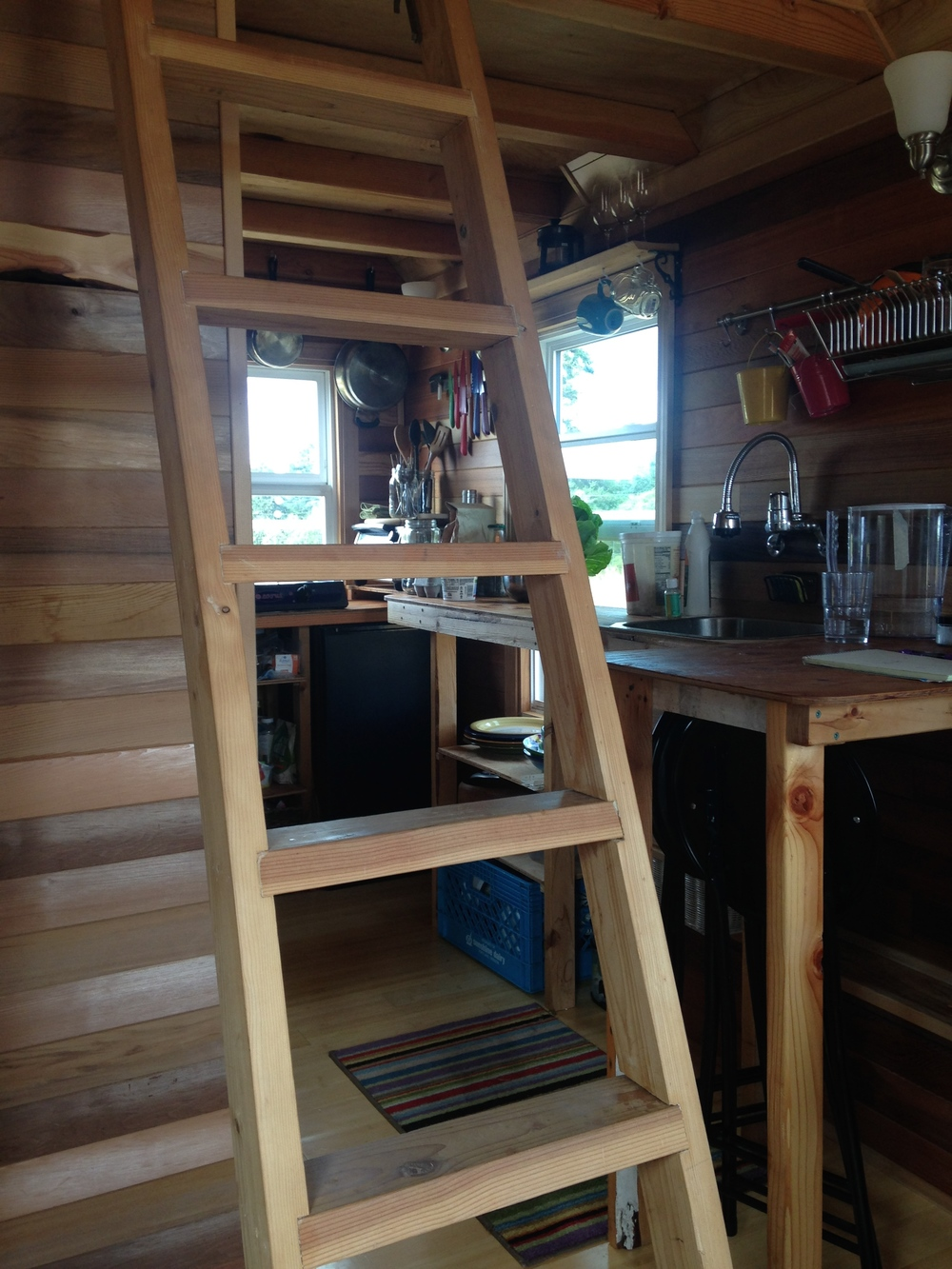 Interior of a Tiny House on Lopez Island
