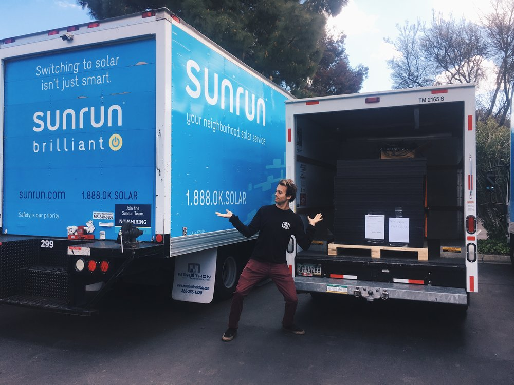 A big thank you to the awesome guys at Sunrun who hooked us up with these awesome solar panels!