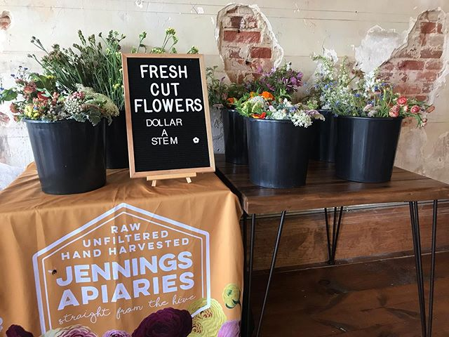 Fresh cut flower pop up at @railwaycoffee for @railroadfest come see us before we sell out!