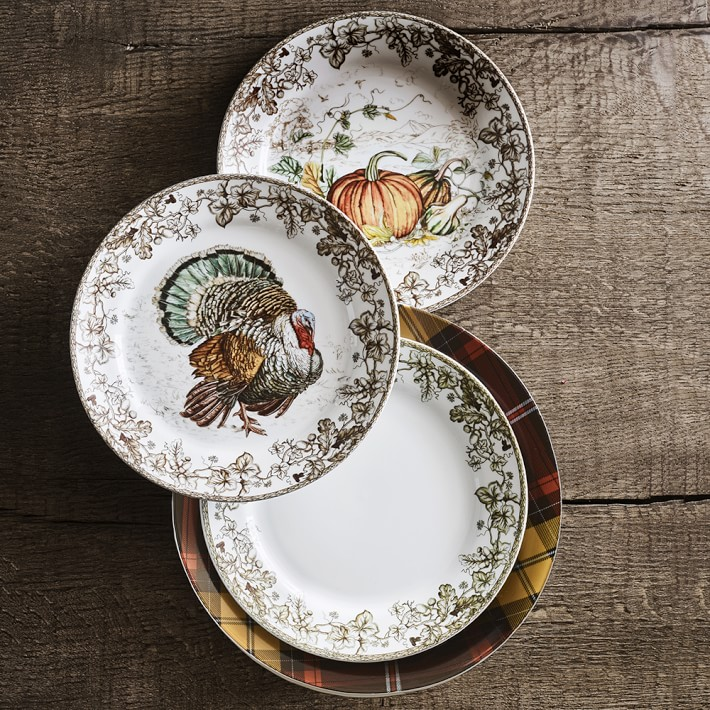 plymouth-pumpkin-salad-plates-set-of-4-o. & Williams-Sonoma Table Top u2014 Madeleine Marx Designs