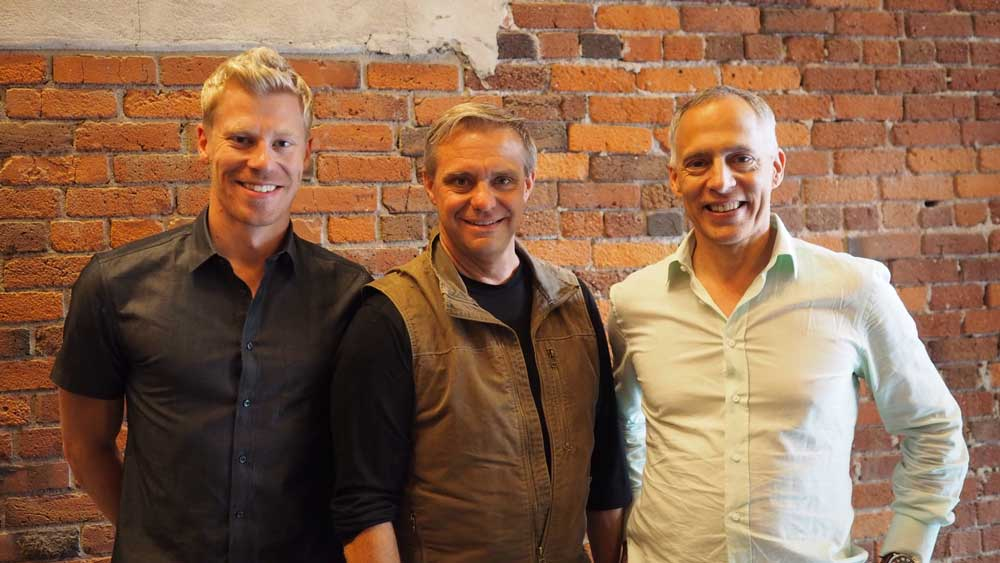 Pictured left to right: Tom Rossiter (President), Cam Shippit (CFO), Cory Brandolini (CEO)
