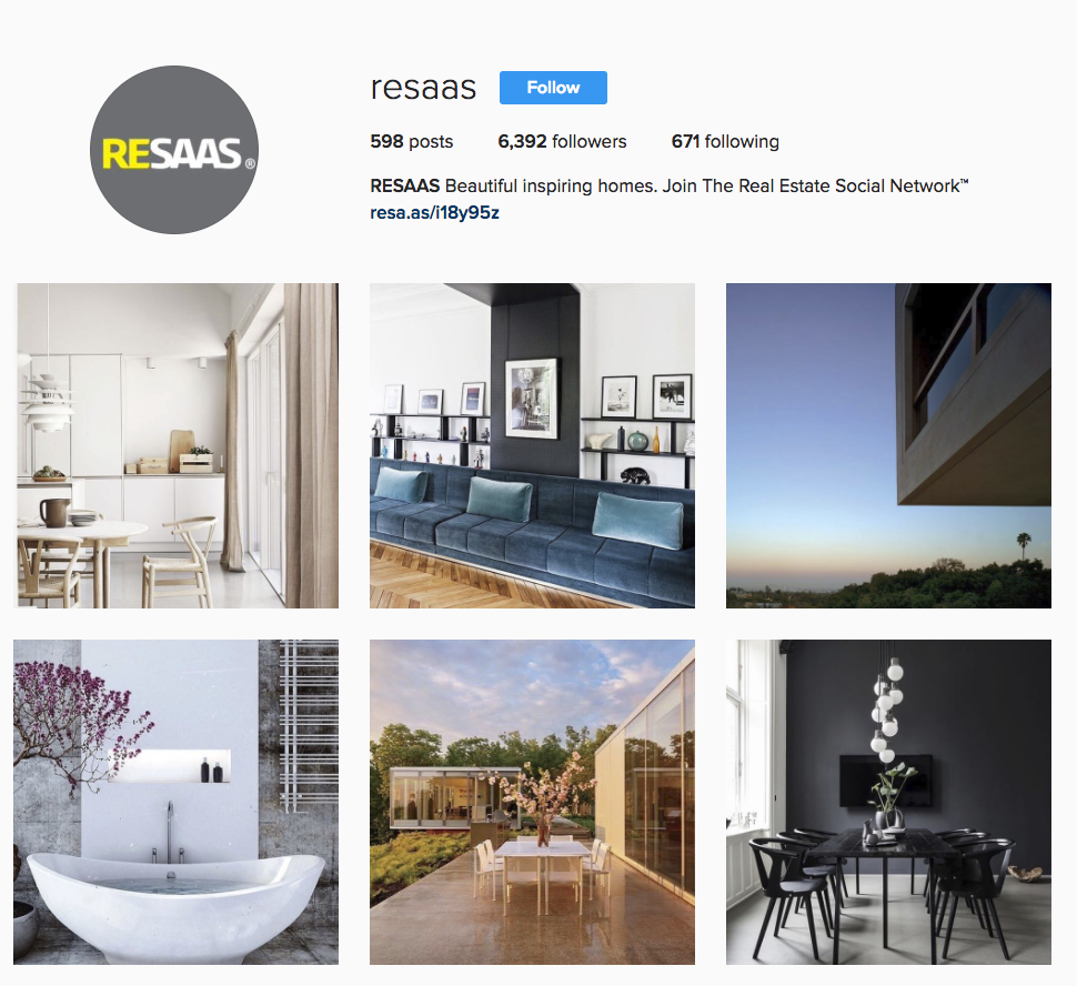 A realtors guide on how to use instagram for real estate resaas blog for Interior design instagram hashtags
