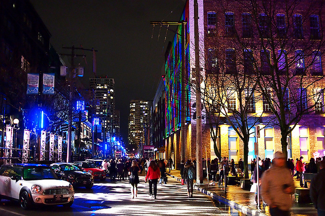 Yaletown at night. (Ann Hung - Source)