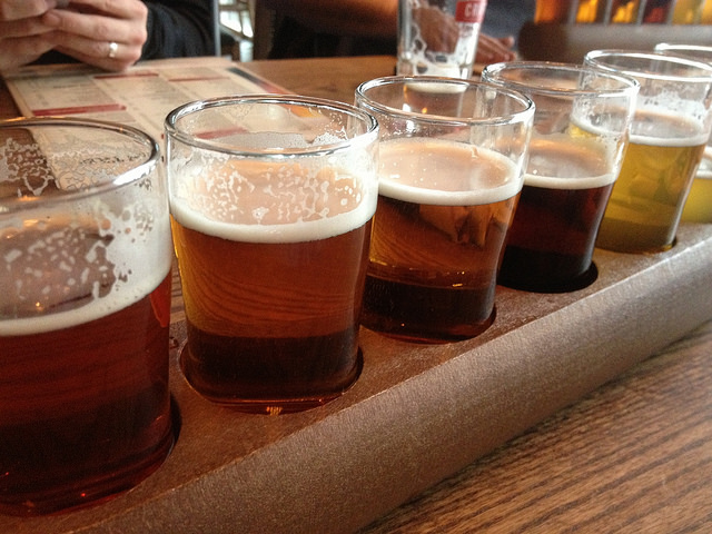Craft beer flights - a staple in Yeast Van! (CK Golf - Source)