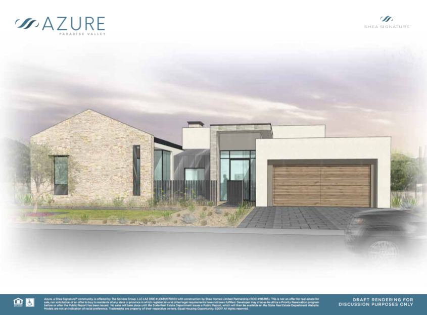 One of the artistic renderings from the new Azure development by Shea Homes. (Source)