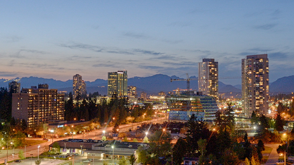The City of Surrey skyline. |  Source
