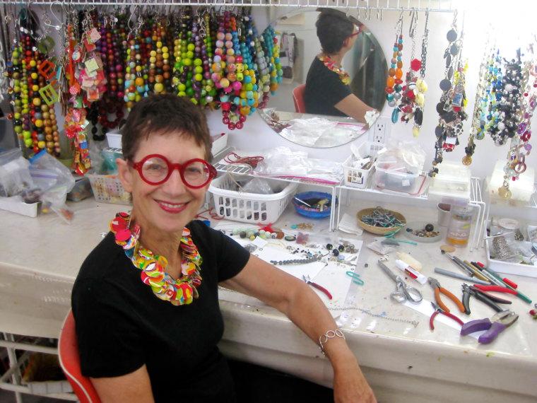 Marianne Bernsen (in my studio in Tucson, AZ)