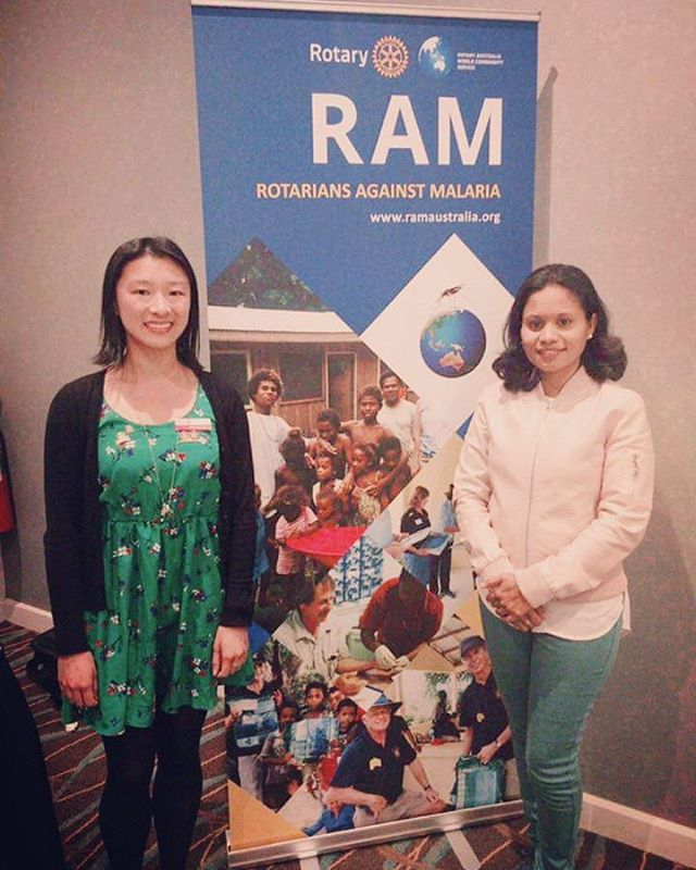 #throwback one of our members attending the Rotarians Against Malaria Conference in #Sydney last month, and meeting Dr Merita Monteiro, Head of the Department of Infectious Diseases, Timor Leste Ministry of Health #Rotary #endmalaria