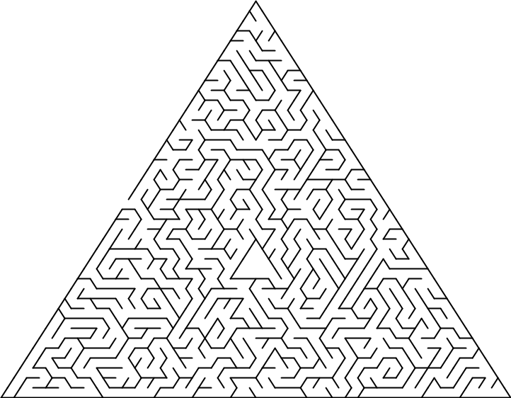 Triangular delta maze with 40 cells side.png