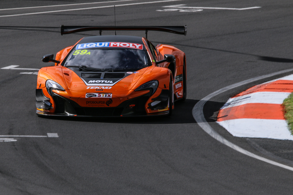 van Gisbergen hustling his 650S GT3 around Hell Corner to start what was most likely another blazing lap.