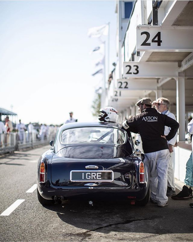 DB4 GT. Photo via @astonengineering  #AstonMartin #DB4GT #DB4 #Goodwood #Classic #AMRacing #BenzinRacing #BenzinandCo #BenzinGarage #GoodwoodRevival #Vintage #RaceTastefully