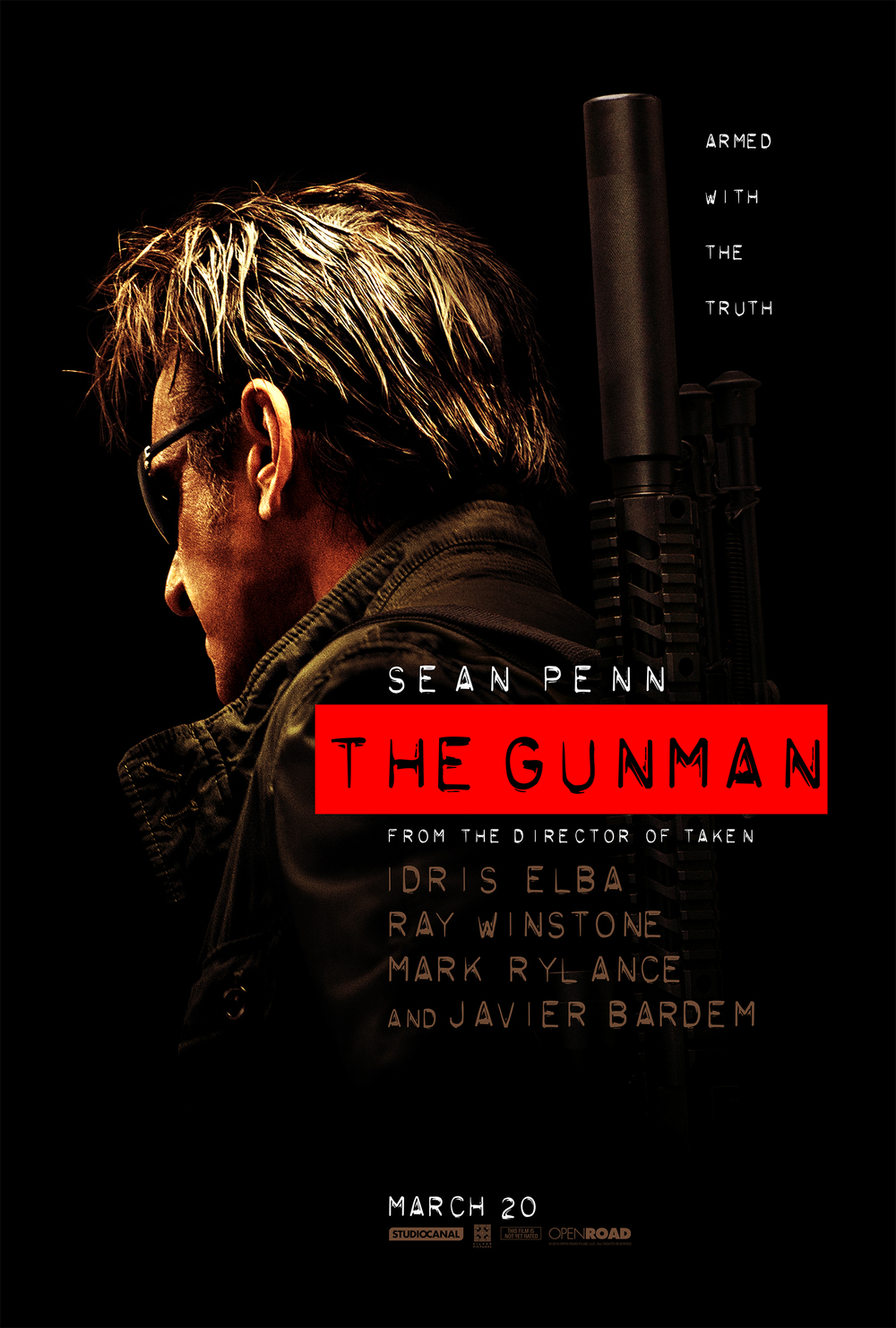 Watch The Gunman trailer  here .